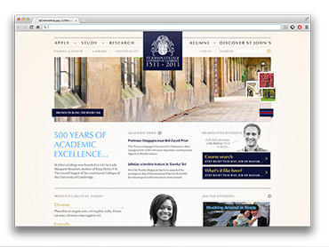 St John's College - Website Overview