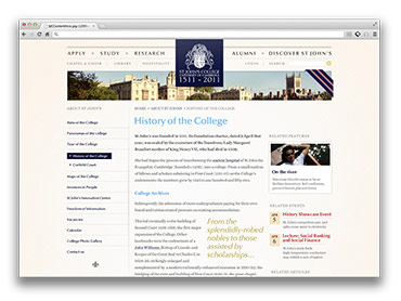 St John's College - Website Content Page